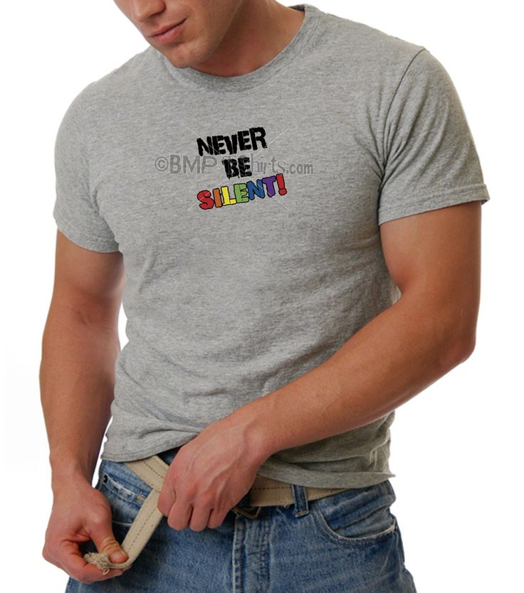 Gay Pride T-Shirt | Never Be Silent! T-Shirt | BMP T-Shirts