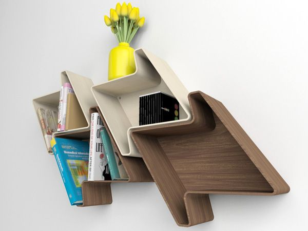 A modular wall shelving unit that puts your favorite woven pattern up on display. #YD #YankoDesign #wood
