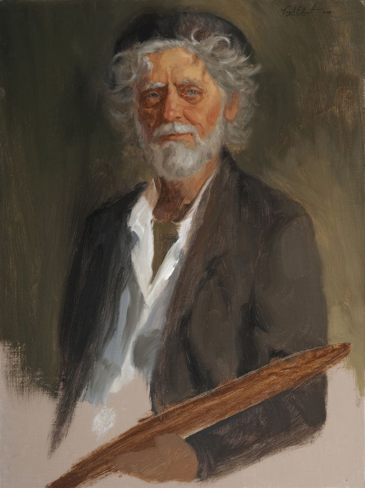 Quick Sketch of Andrew Annenburg by Virgil Elliott, Oil on canvas mounted on…