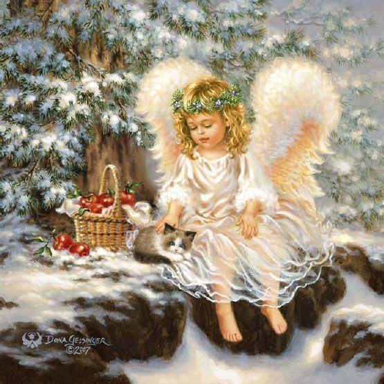 Скачать схемы вышивки Ангелы и ангелочки
