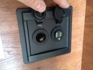 How to add a 12V and USB charging ports to the truck camper.