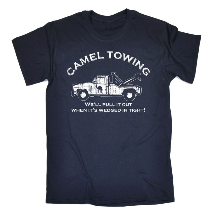 123t USA Men's Camel Towing We'll Pull It Out When It's Wedged In Tight Funny T-Shirt