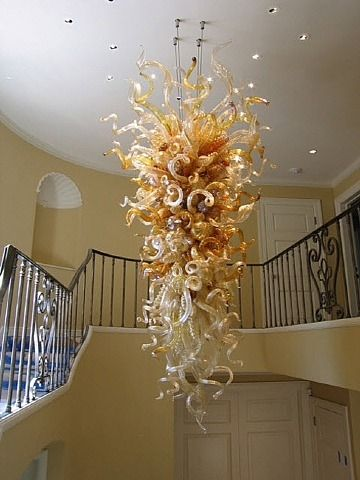 Royal Gold and Clear Chandelier ARTIST: Dale Chihuly (American, b.1941)