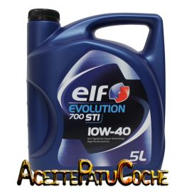 ACEITE ELF EVOLUTION 700 STI 10W40 5 LITROS