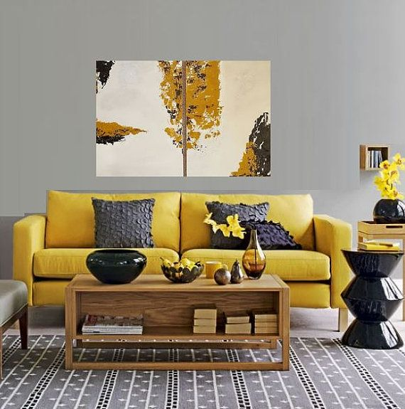 M s de 25 ideas incre bles sobre pinturas de color mostaza - Papel pintado salones modernos ...