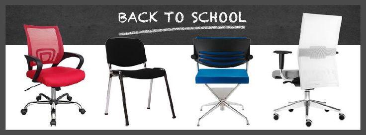 OFFERTA BACKTOSCHOOL #sedie per la #scrivania, lo #studio di #casa e l'#ufficio, #poltroncine d'#attesa e per comunità a #prezzi da € 30 a 299! Solo su www.chairsoutlet.com
