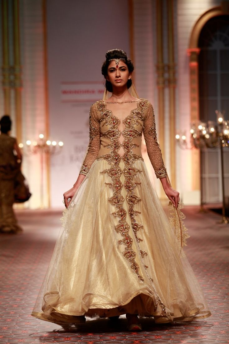 Asian bride live show 2013 Damini\'s collection | party suits ...