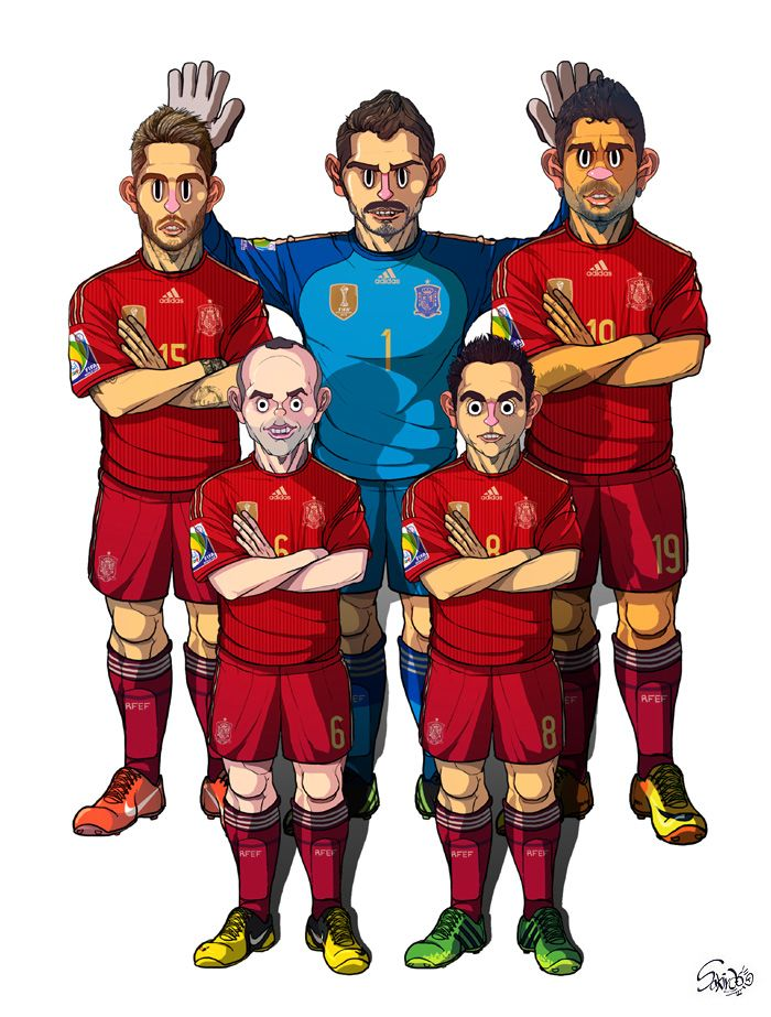 [2014 #WorldCup Edition] B team : #Spain by sakiroo.deviantart