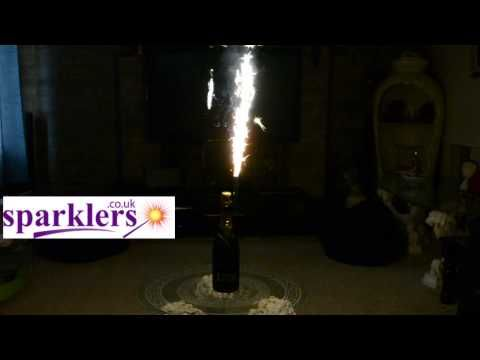 "Black & Silver Glitz- Gold Sparkling Ice Fountain Candles 6"" Inch Indo – www.Sparklers.co.uk"