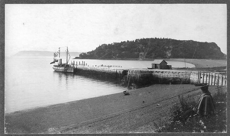 Ferry Hiawatha at Partridge Island Wharf Parrsboro, Nova Scotia