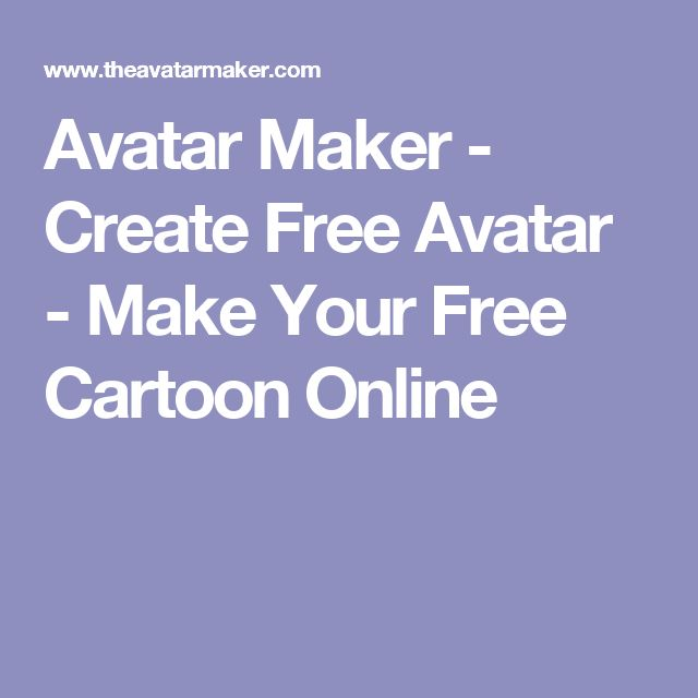 Avatar Maker - Create Free Avatar - Make Your Free Cartoon Online
