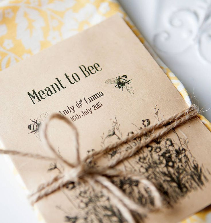 'meant to bee' seed packet favour by wedding in a teacup | notonthehighstreet.com