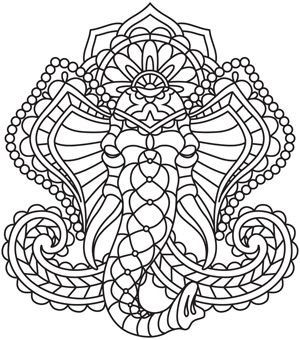 fresh creative designs and tutorials for machine and hand embroidery - Coloring Page Elephant Design