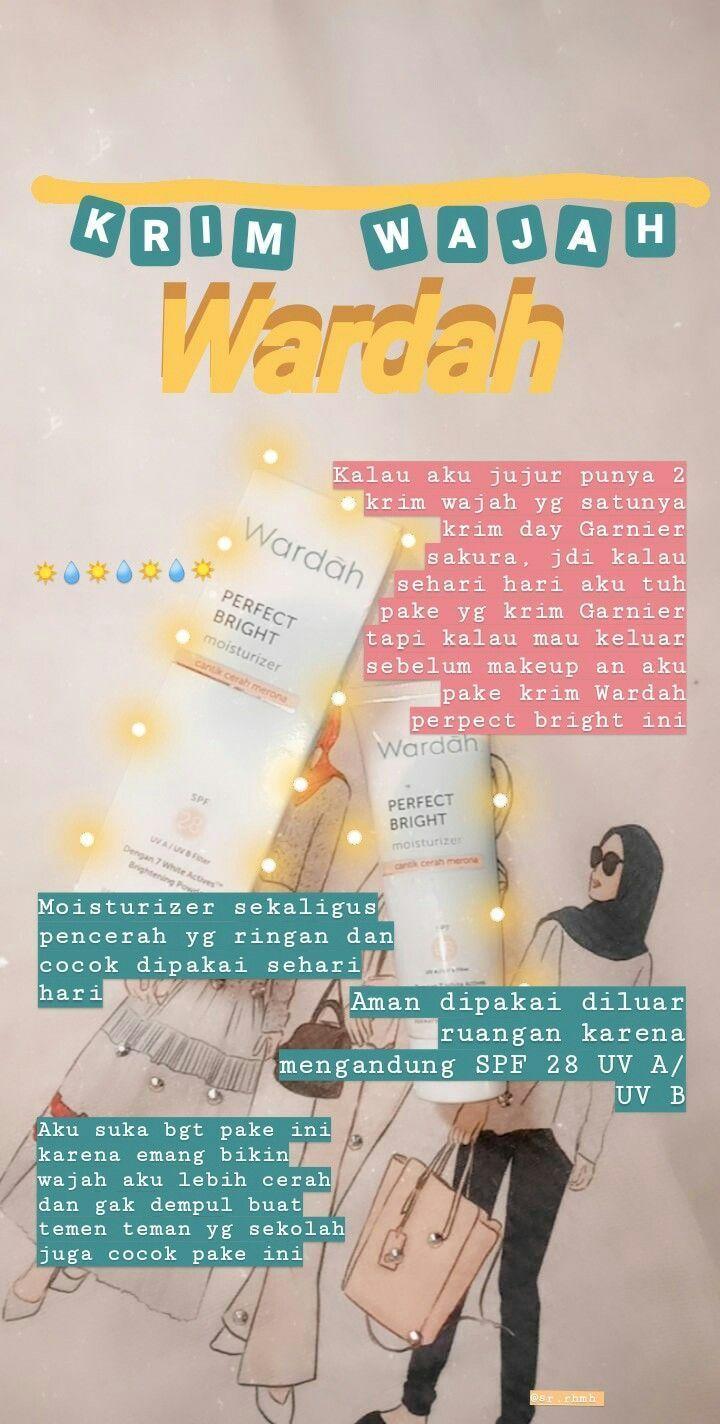 Review Wardah Perfect Bright Moisturizer Spf 28 Untuk Kulit Berjerawat