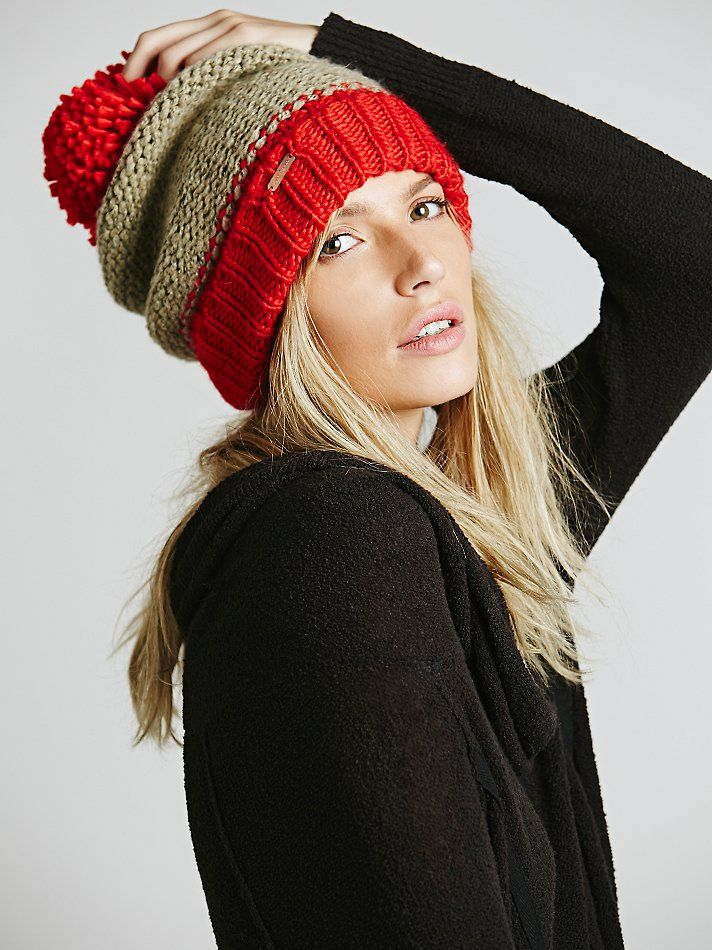 Free People Bowsman Pom Beanie at Free People Clothing Boutique