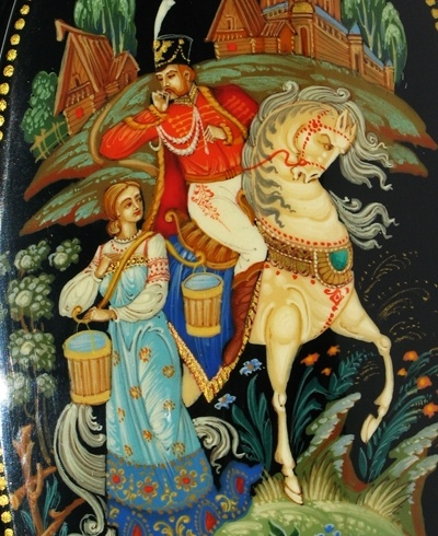 Russian lacquered box  http://www.greatrussiangifts.com/servlet/the-Lacquer-Boxes/Categories