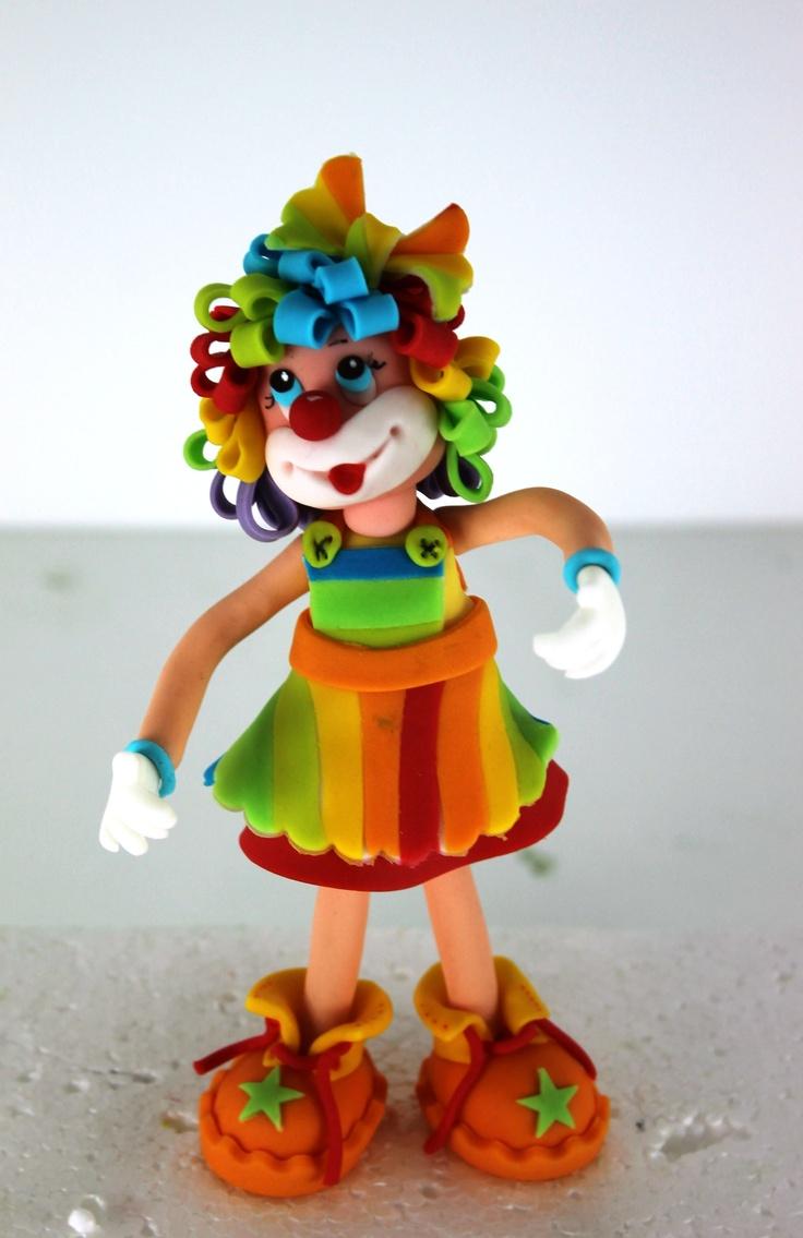 whimsy girl clown ornament