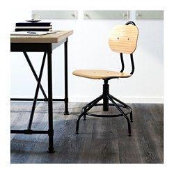 IKEA - KULLABERG, Chaise pivotante, , Un siège de bureau inspiré du style industriel classique mais avec des fonctions modernes.La hauteur pivotante réglable offre une assise confortable.L'anneau métallique peut servir de repose-pieds.Facile à déplacer et à soulever grâce à la poignée du dossier.Grâce à ses pieds réglables, la chaise reste stable même sur des surfaces irrégulières.
