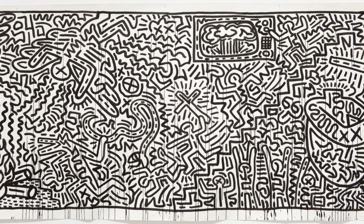 Keith Haring Art Black And White The