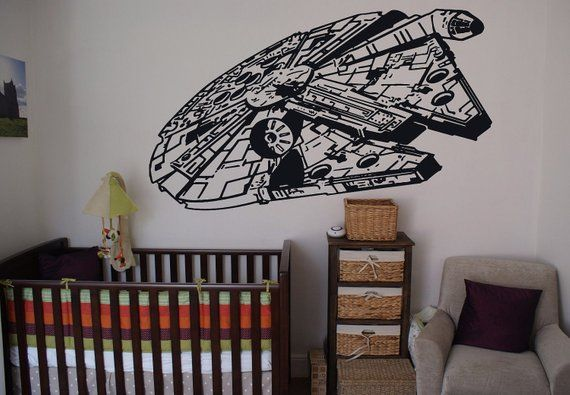 Millennium Falcon Huge Wall Sticker, Star Wars Wall Decal ...
