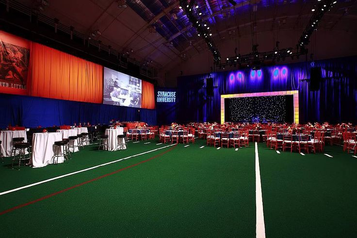 Fill a ballroom with a football field. Great idea of