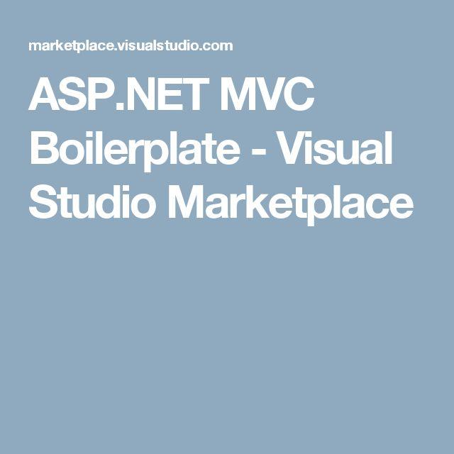 ASP.NET MVC Boilerplate - Visual Studio Marketplace