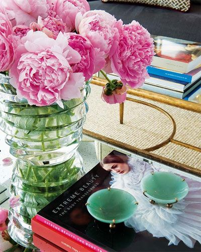 : Decor, Coffee Tables, Interior, Idea, Inspiration, Flowers, Pink Peonies, Favorite Flower