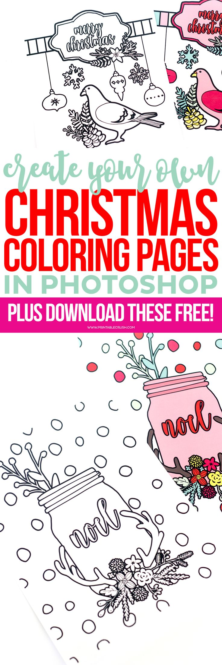 Make a coloring book page with photoshop - Learn To Create Christmas Coloring Pages In Photoshop In This Amazingly Easy Tutorial You
