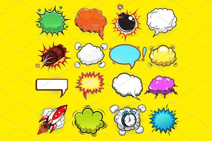 Comic speech bubbles vector speech bubble abstract