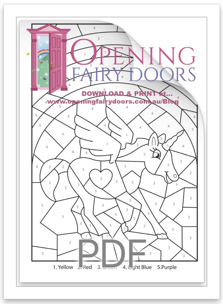 Three Free Colouring Pages - Fairy Door Blog - Opening ...