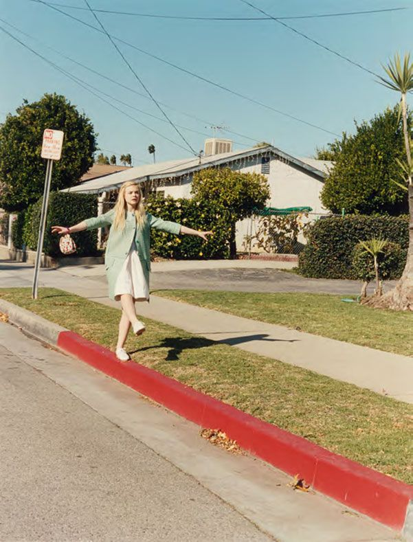 Elle Fanning. Really love this photoshoot! LA and vintage combined together..