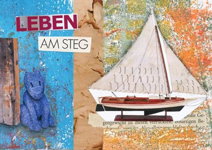 Leben am Steg  Mixed Media on Index Card