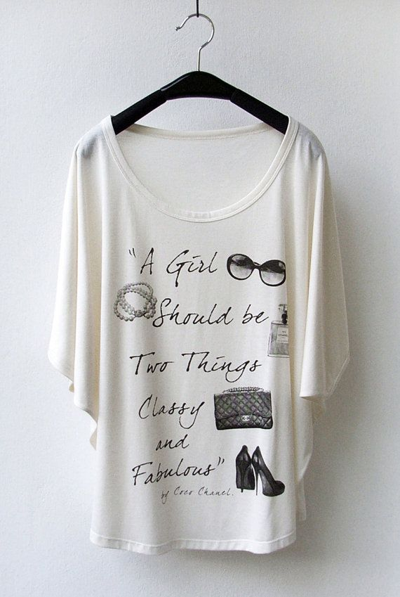 SALE  Chanel Quote  Women Tank Top Oversize Shirt by InfinitStyle, $18.00