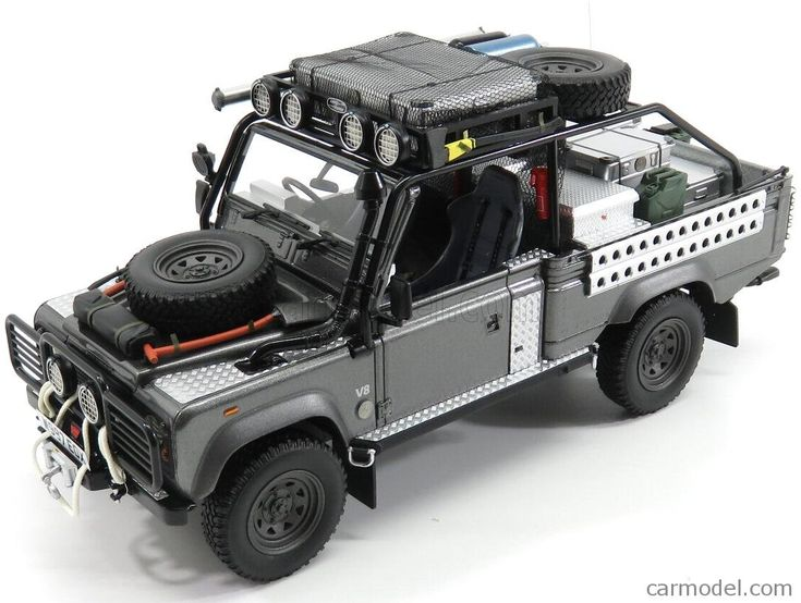 KYOSHO KSR08902TR Scale 1/18  LAND ROVER DEFENDER 90 PICK-UP 2001 - LARA CROFT - TOMB RAIDER - ANGIOLINA JOLIE - MOVIE GREY MET