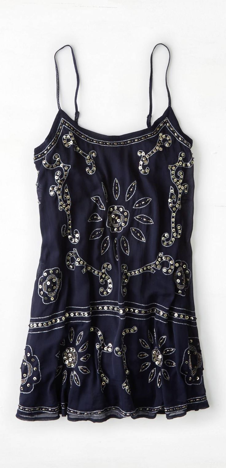 Sequined slip dress