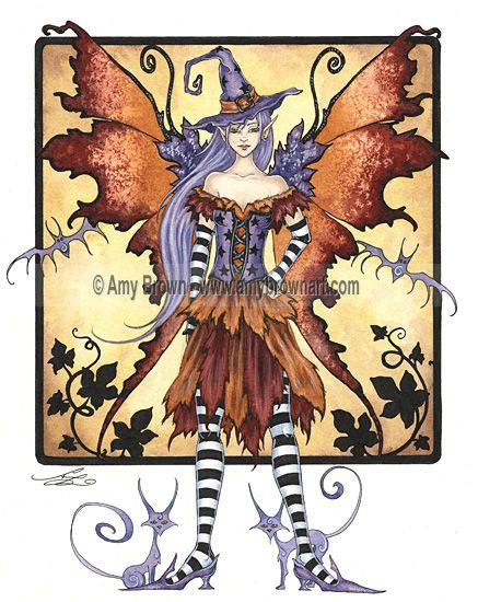 "Amy Brown: Fairy Art - The Official Gallery - Halloween ""Witch Fairy"""