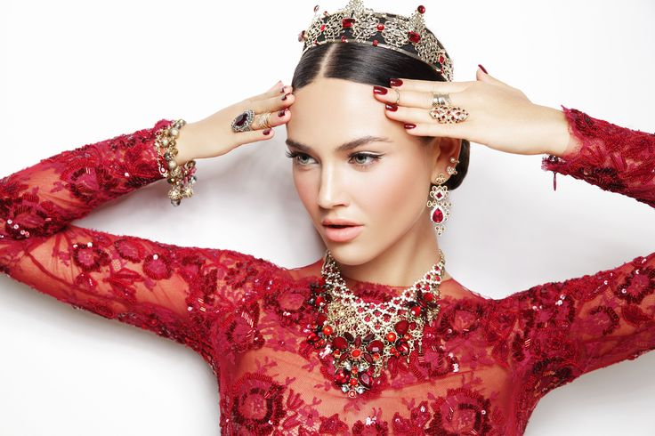 diva woman Collection of Ruby Night #diva #accessorize #red #fashion #campaign #model #winter #look
