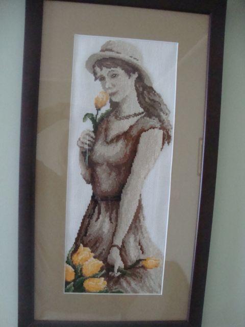 Dziewczyna z tulipanami