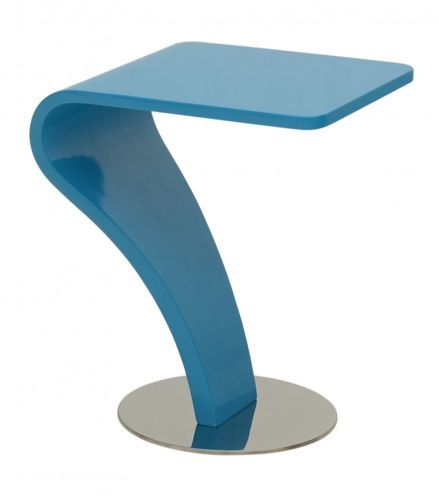 Beistelltisch TABLET Blau Notebook Design Ablage Sofa PC