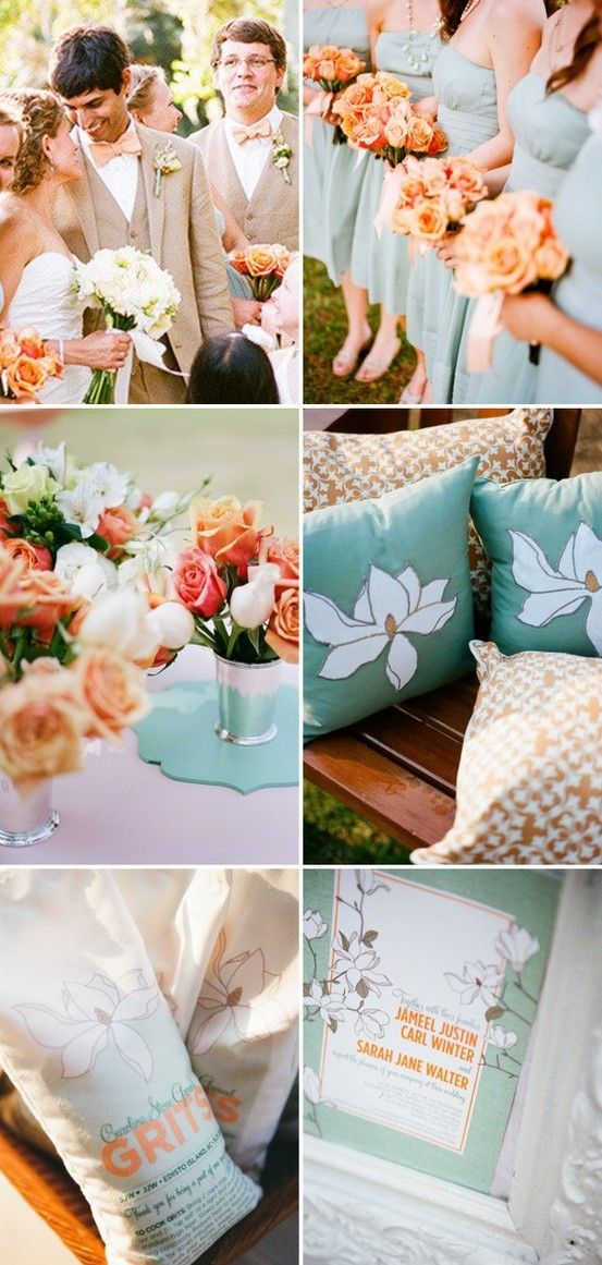 peach and sea green wedding cake 67 best images about and mint green wedding on 18135