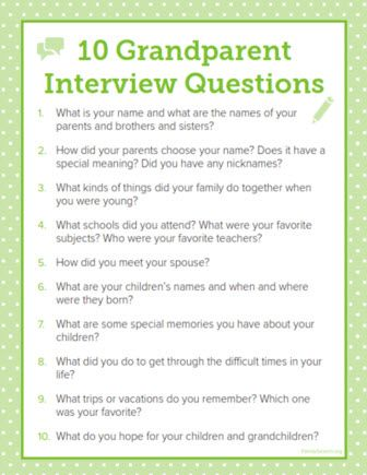 Recording the stories of grandparents and other relatives can preserve their legacies for future generations. FamilySearch's mobile memories app is but one tool you can use to capture stories. Prepare a list of questions that can be used to draw out responses. Need suggestions? Our downloadable sheet features questions you can ask grandparents. Adjust the questions as necessary to interview other ancestors during your family tree gathering.