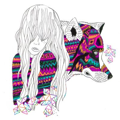 portrait, shapes, color, wolf: Buy She Wolf, Products Avail, Society6 Com, Art Prints, Color Patterns, Graphics Design, Kris Tate, Throw Pillows, Shewolf