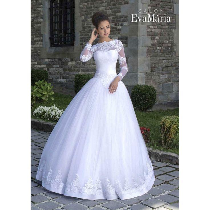 Svadobné šaty so širokou tylovou sukňou Summer