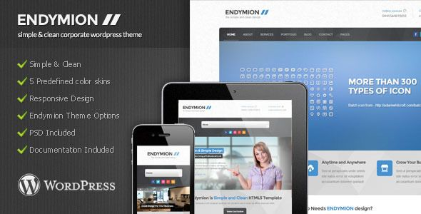 Endymion - Simple Corporate Wordpress Theme