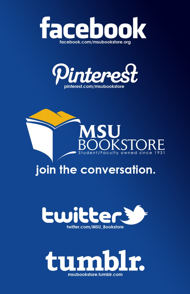 Check out the MSU Bookstore, all across the web!