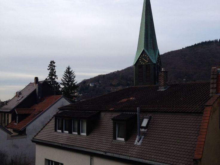 Moderne offene, großzügige Altstadtwohnung, große Terrasse, Blick auf Schloss und Philosophenweg 1290