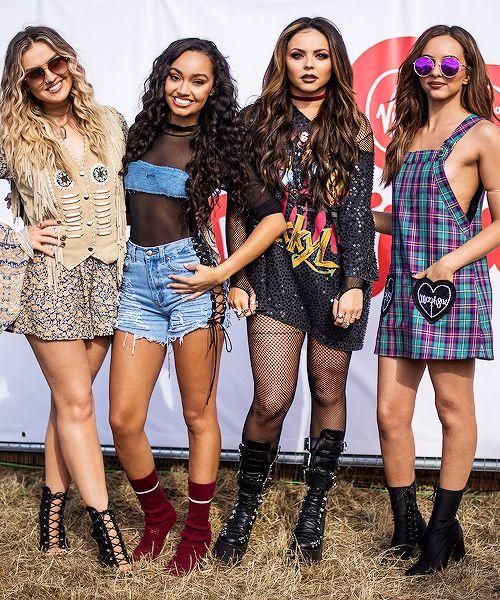"Little Mix backstage at V festival on August 21st, 2016. """