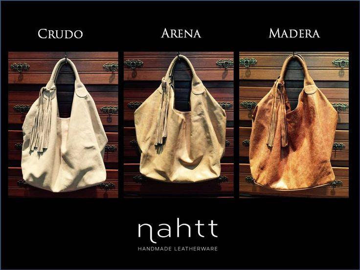 Cartera de cuero con asa corta, tamaño grande. #color #bags #leatherware #winter