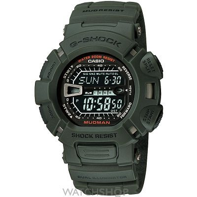 Had to go G-Shock! Mens Casio G-Shock Mudman Alarm Chronograph Watch G-9000-3VER