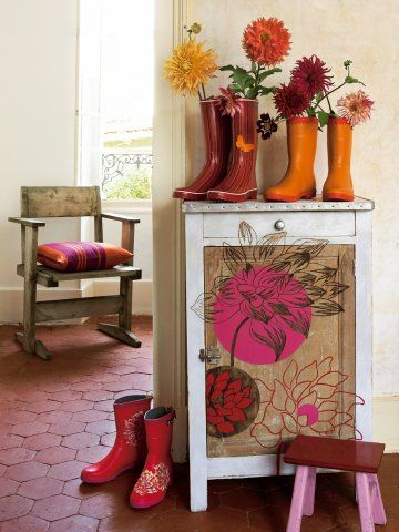 9 best Meubles décorés images on Pinterest Painted furniture, Old
